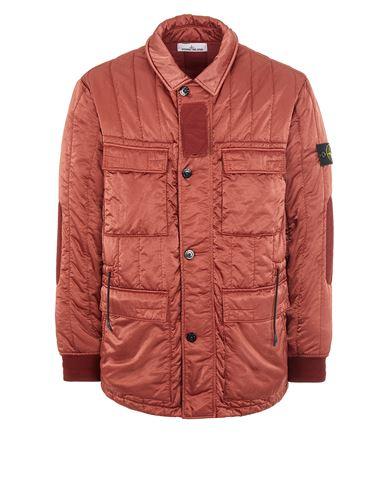 STONE ISLAND 43521 NYLON RASO QUILTED-TC Mid-length jacket Man Brick red EUR 879