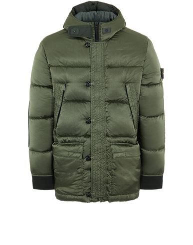 STONE ISLAND 40821 NYLON RASO DOWN-TC Mid-length jacket Man Sage Green USD 1089
