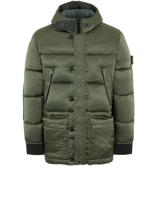 STONE ISLAND 40821 NYLON RASO DOWN-TC Mid-length jacket Man Sage Green