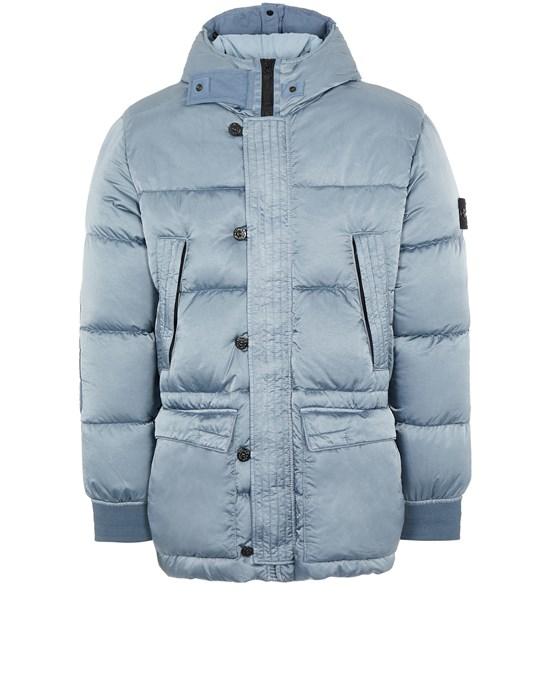 STONE ISLAND 40821 NYLON RASO DOWN-TC Mid-length jacket Man Mid Blue