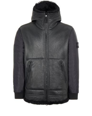 STONE ISLAND 00197 SHEEPSKIN + NYLON RASO QUILTED WITH PRIMALOFT® INSULATION TECHNOLOGY_REVERSIBLE PIECE Leather Jacket Man Black USD 2694