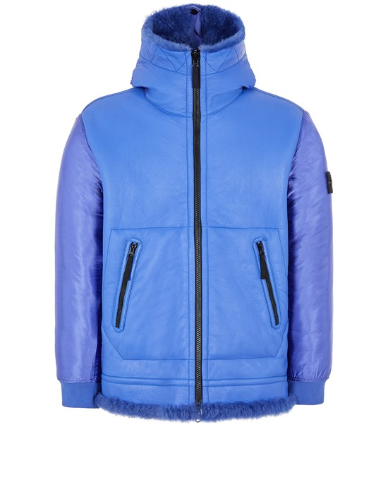 Leather Jacket Man 00197 SHEEPSKIN + NYLON RASO QUILTED WITH PRIMALOFT® INSULATION TECHNOLOGY_REVERSIBLE PIECE Front STONE ISLAND