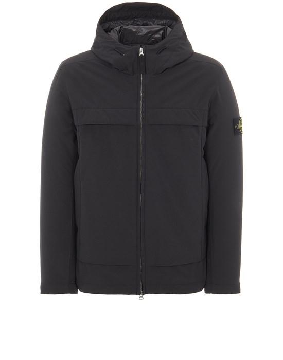 Mid-length jacket Man 41427 SOFT SHELL-R e.dye® TECHNOLOGY WITH PRIMALOFT® INSULATION TECHNOLOGY Front STONE ISLAND