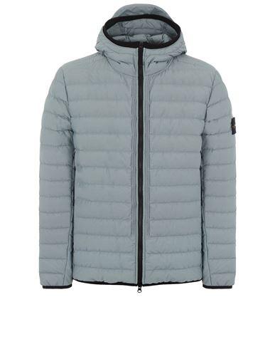STONE ISLAND 42725 O-COTTON/R-NYLON TELA Mid-length jacket Man Pearl Grey EUR 619