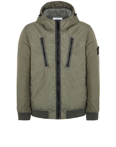 STONE ISLAND 42223 GARMENT DYED CRINKLE REPS NY WITH PRIMALOFT®-TC Mid-length jacket Man Sage Green EUR 655