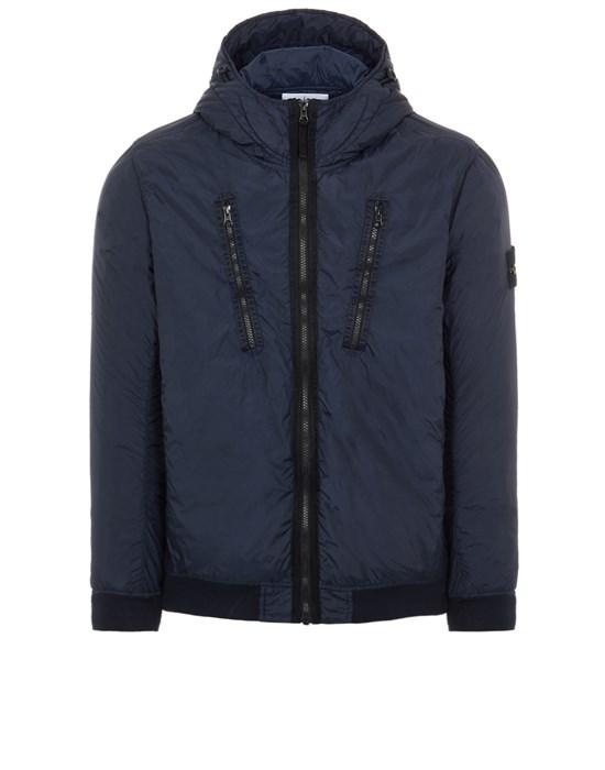 STONE ISLAND 42223 GARMENT DYED CRINKLE REPS NY WITH PRIMALOFT®-TC Mid-length jacket Man Blue