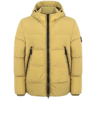 STONE ISLAND 40123 GARMENT DYED CRINKLE REPS NY DOWN-TC Mid-length jacket Man Dark Beige EUR 779