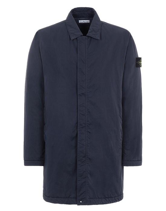 STONE ISLAND 44346 HYPER DENSE NYLON TWILL WITH PRIMALOFT®-TC Mid-length jacket Man Ink Blue