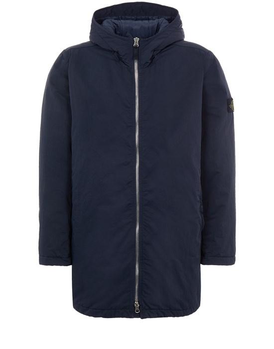 Mid-length jacket Man 42446 HYPER DENSE NYLON TWILL WITH PRIMALOFT®-TC Front STONE ISLAND