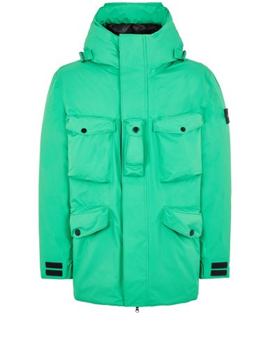 STONE ISLAND 40330 RIPSTOP GORE-TEX CON PACLITE® PRODUCT TECHNOLOGY DOWN Mid-length jacket Man Green EUR 1149