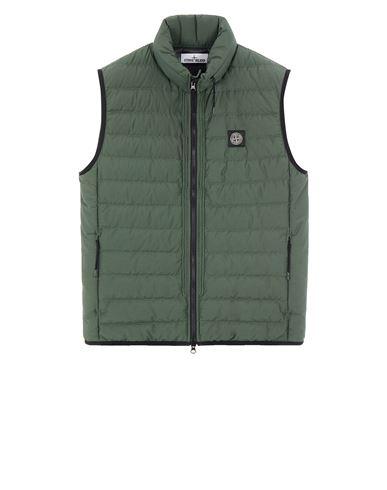 STONE ISLAND G0725 O-COTTON/R-NYLON TELA Vest Man Sage Green USD 457