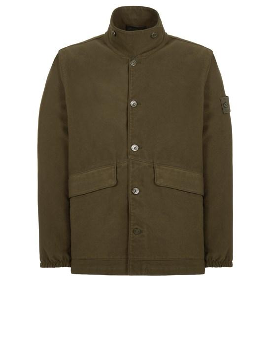 STONE ISLAND A02F3 COTTON MOLESKIN-TC_GHOST PIECE Blazer Man Military Green