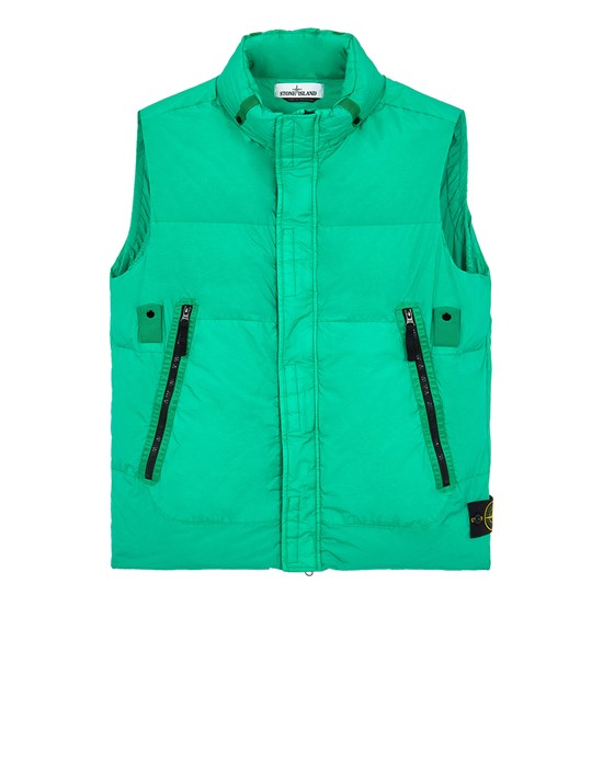 Waistcoat Man G0123 GARMENT DYED CRINKLE REPS NY DOWN-TC Front STONE ISLAND