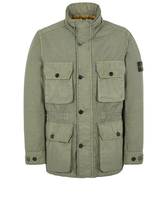 Mid-length jacket Man 43032 NASLAN LIGHT WATRO WITH PRIMALOFT®-TC Front STONE ISLAND