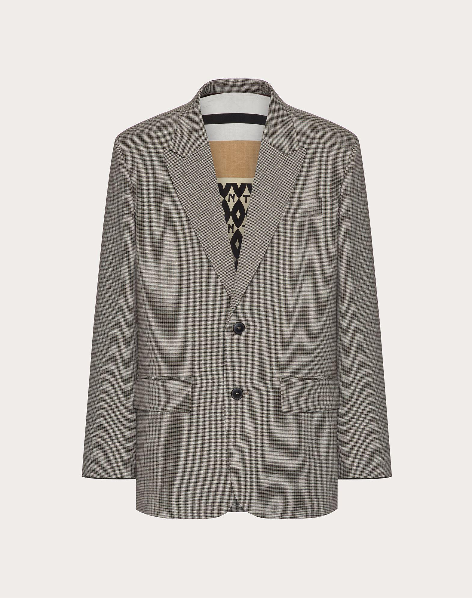 Valentino Uomo Wolljacke Herren Grau Schurwolle 100% 54 In Gray