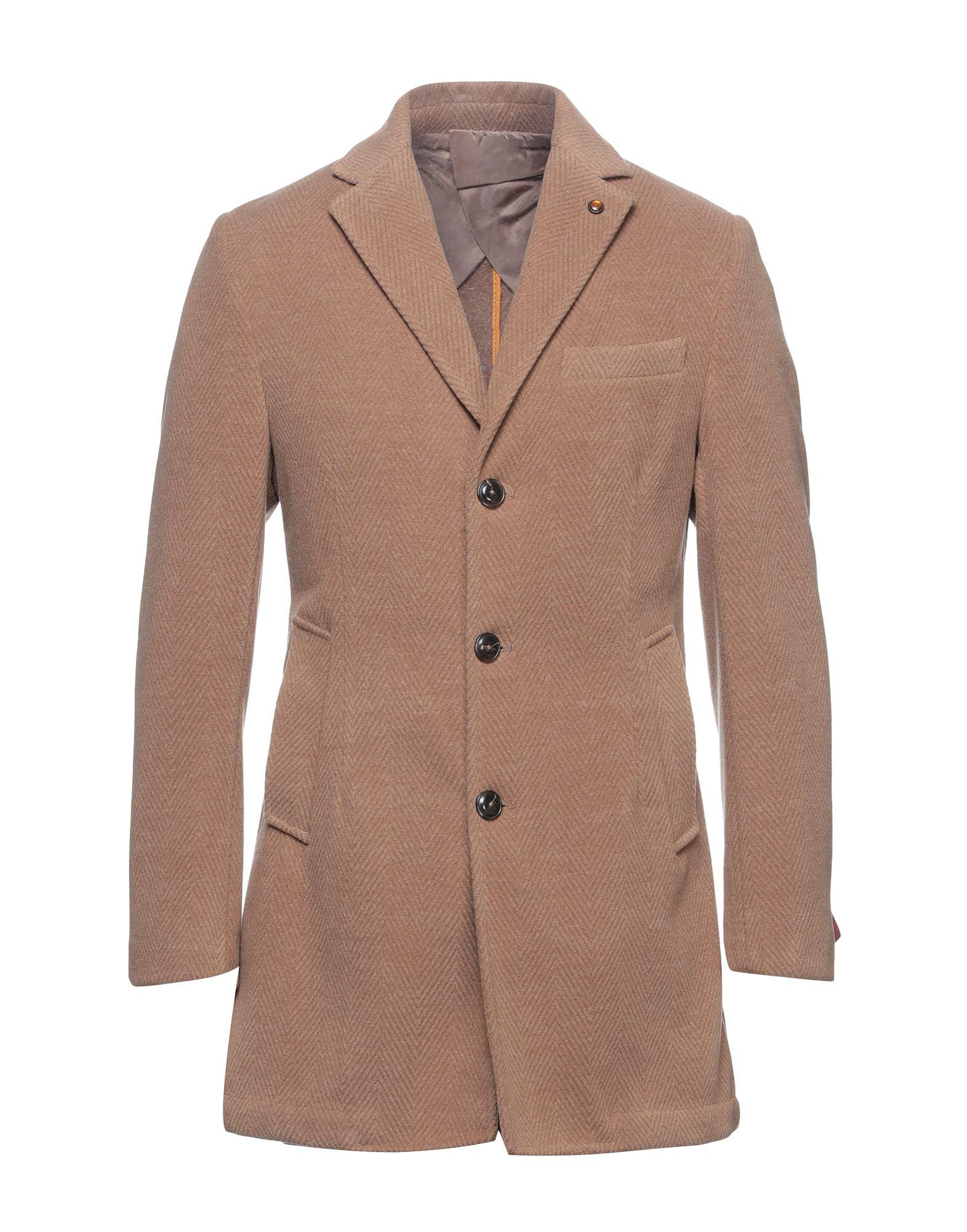 《セール開催中》EXIGO メンズ コート ブラウン 50 ポリエステル 90% / レーヨン 10%