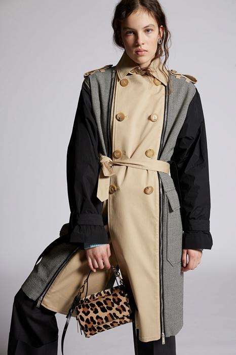 DSQUARED2 Femme Manteau long Noir Taille 40 100% Laine Coton Élasthanne Polyester