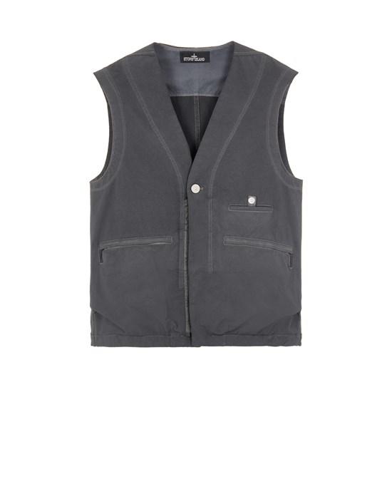 STONE ISLAND SHADOW PROJECT G0304 BI-STRETCH R-NYLON TWILL, GARMENT DYED_CHAPTER 1 Vest Man Steel Gray