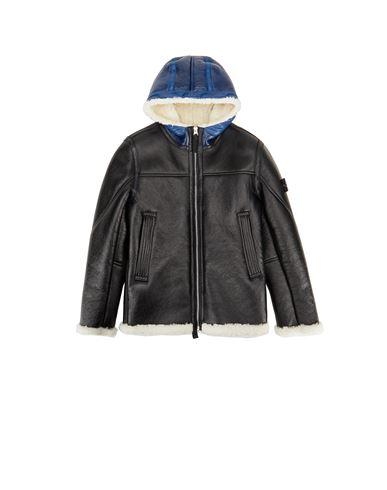STONE ISLAND JUNIOR Jacket Man 00138 HAND SPRAYED OVER PRINTED SHEEPSKIN f