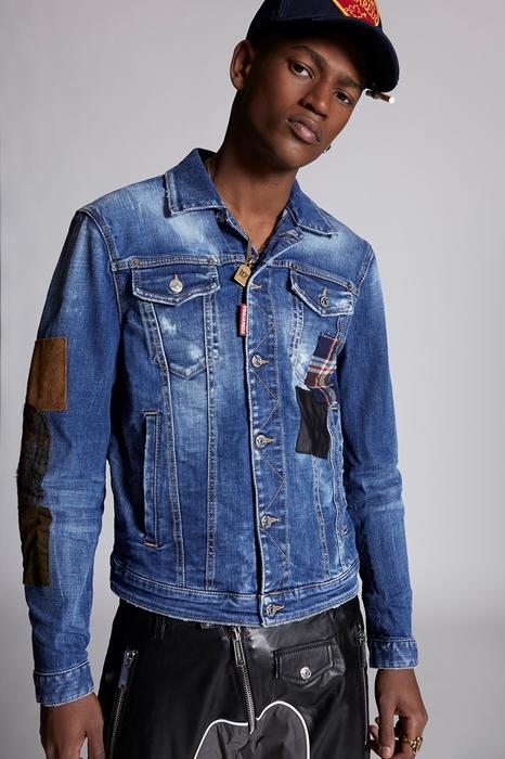Manteau en jean Taille 40 99% Coton 1% Élasthanne Cuir de veau Polyester - Dsquared2 - Modalova