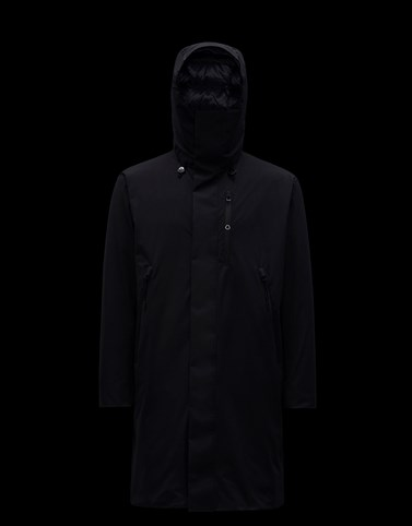 MERLET 黑色 Long Down Jackets 男士