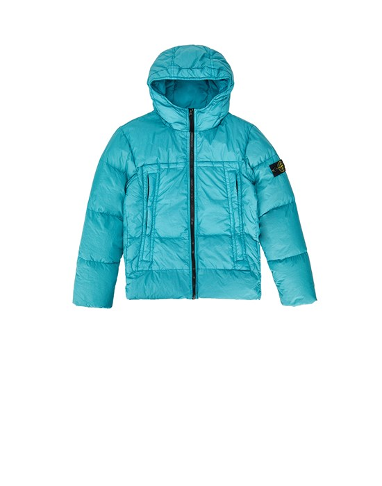 STONE ISLAND JUNIOR 40433 GARMENT DYED CRINKLE REPS NY DOWN-TC Jacket Man Teal