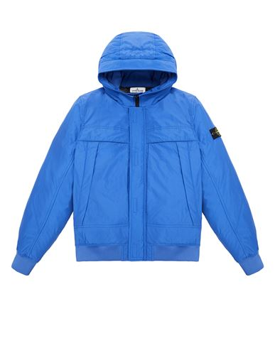 STONE ISLAND TEEN 41032 MICRO REPS DOWN Jacket Man Ultramarine Blue EUR 565