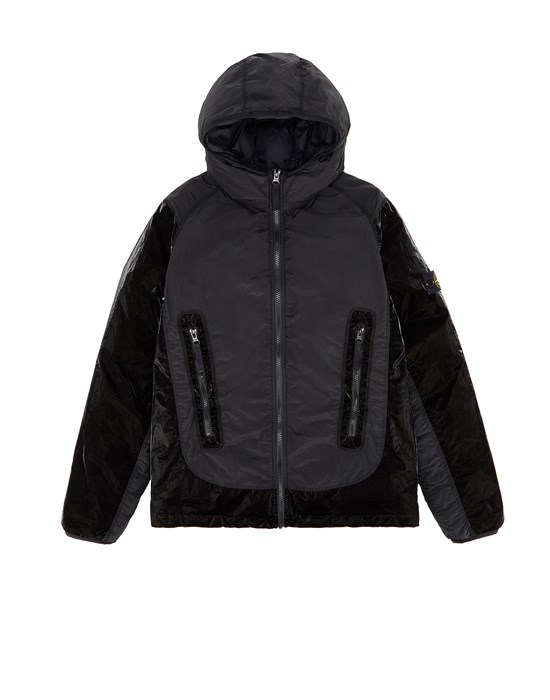 STONE ISLAND JUNIOR 40936 NYLON METAL GLOSS COATING/RESIN TREATED NYLON Jacket Man Black