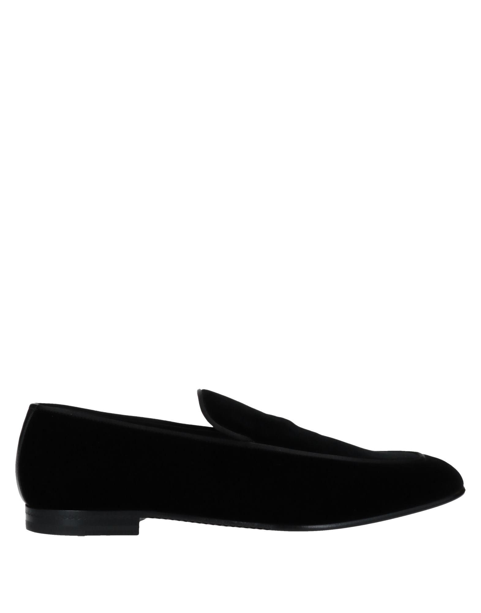 《セール開催中》ERMENEGILDO ZEGNA メンズ モカシン ブラック 9.5 紡績繊維 / 革