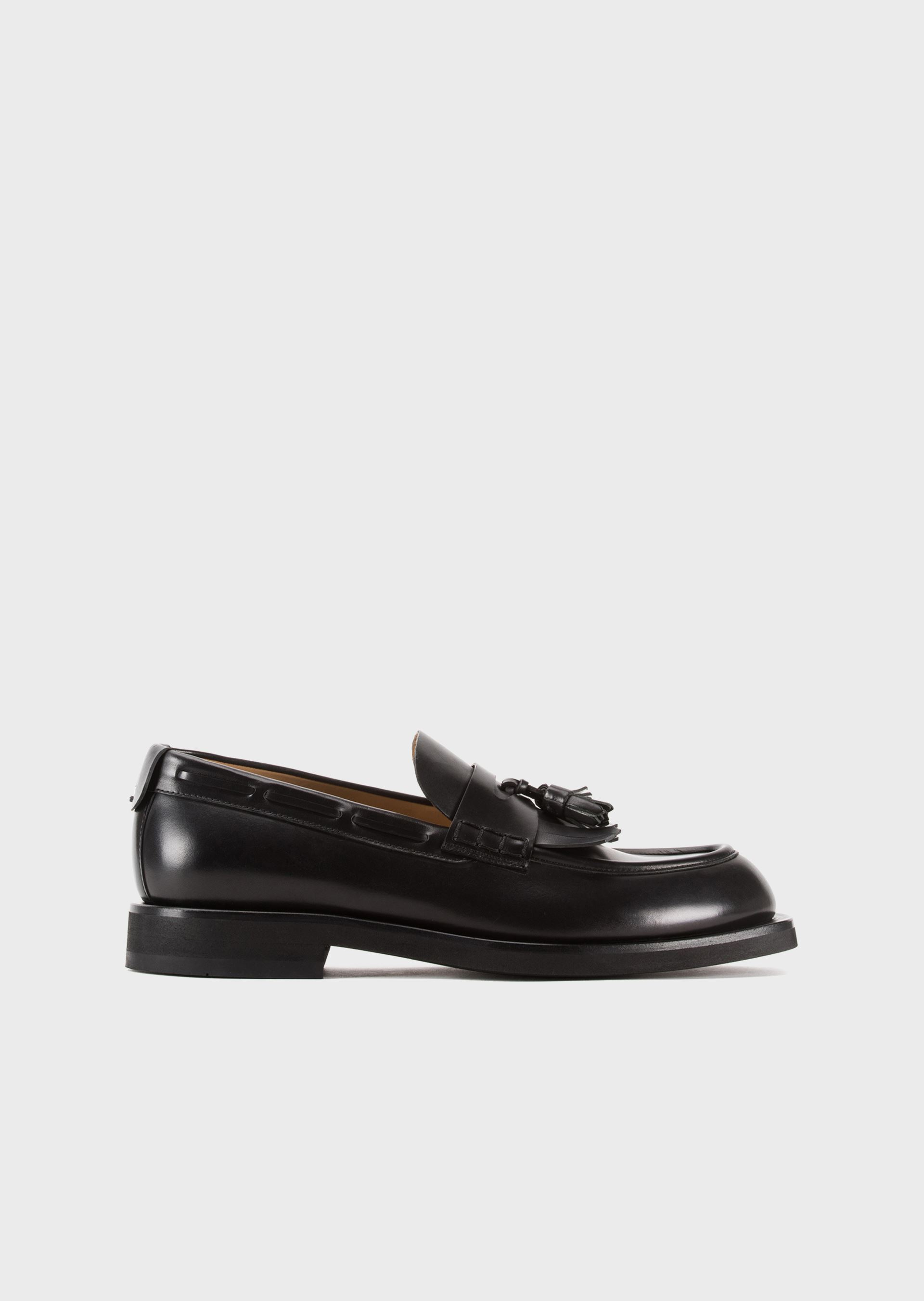 EMPORIO ARMANI Leather loafers with tassels