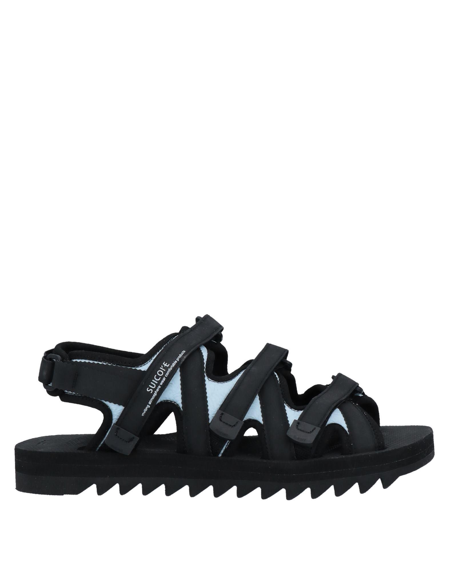 《セール開催中》SUICOKE メンズ サンダル ブラック 10 紡績繊維