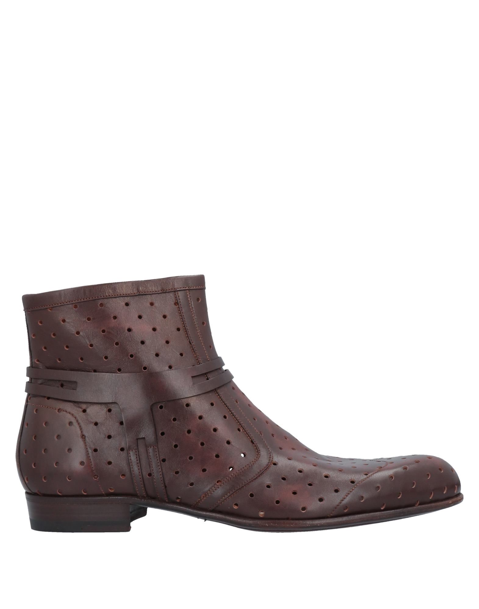 A.testoni Ankle Boots In Dark Brown