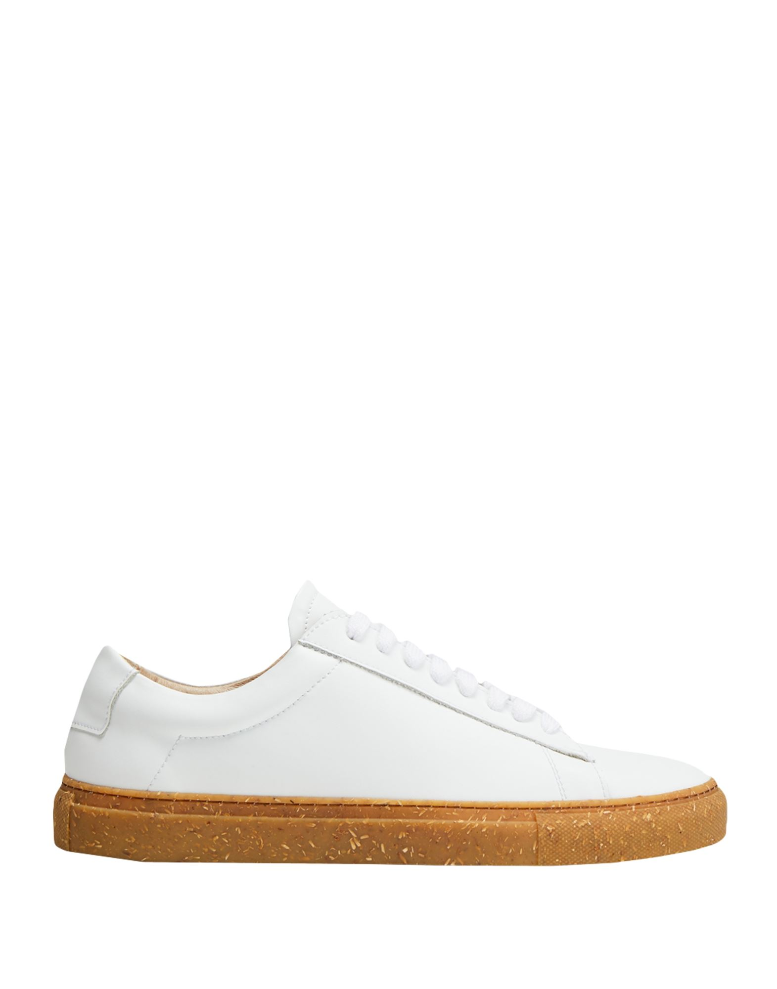 8 by YOOX メンズ スニーカー RECLAIMED LEATHER SNEAKER ホワイト