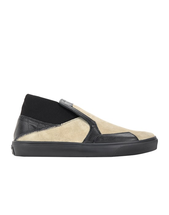 STONE ISLAND SHADOW PROJECT S0122 SCARPA SLIP-ON Scarpa Uomo Verde Oliva