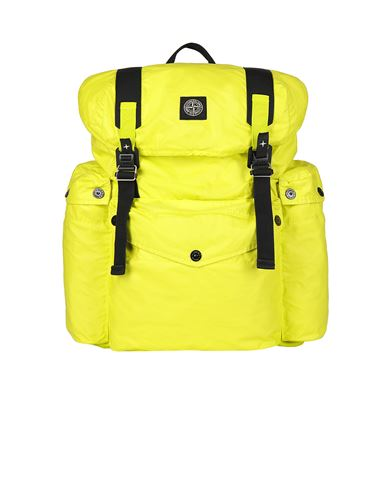 STONE ISLAND 90370 MUSSOLA GOMMATA CANVAS PRINT Backpack Man Pistachio Green USD 423