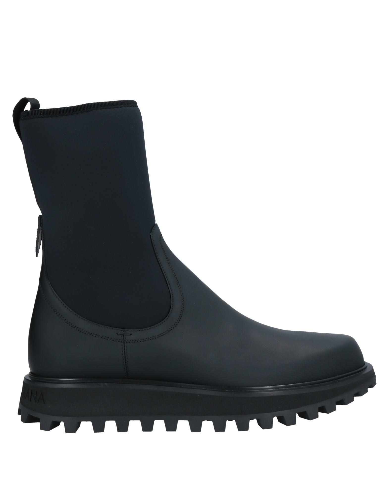 DOLCE & GABBANA ドルチェ & ガッバーナ メンズ ブーツ ブラック