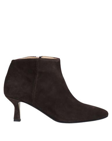 Полусапоги и высокие ботинки L'ARIANNA. Цвет: темно-коричневый