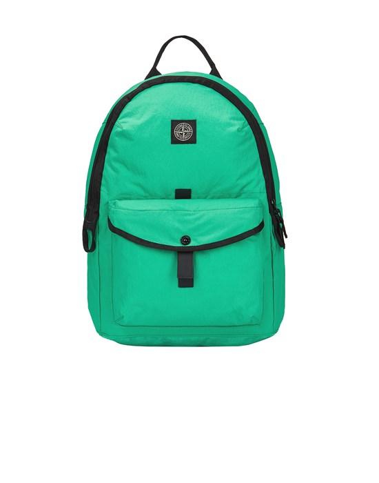 STONE ISLAND 91174 STRONG NYLON TWILL Backpack Man Green