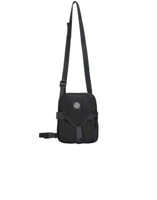 STONE ISLAND 91374 STRONG NYLON TWILL Backpack Man Black