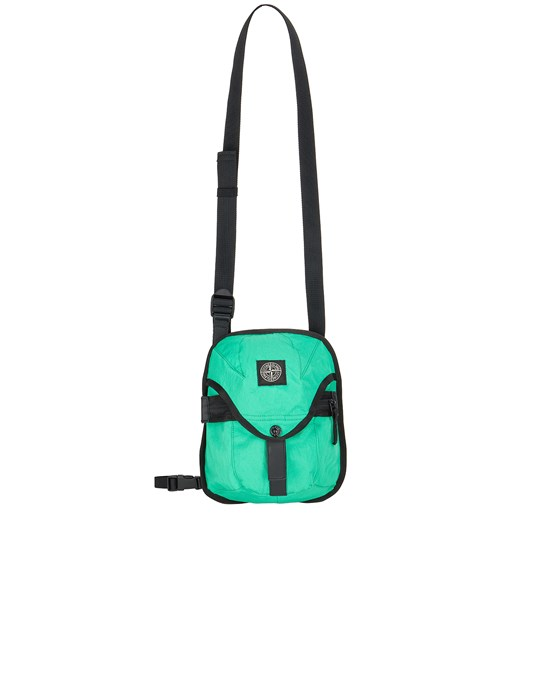 STONE ISLAND 91374 STRONG NYLON TWILL Backpack Man Green