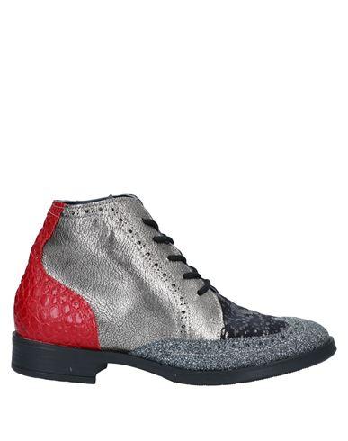 Полусапоги и высокие ботинки EBARRITO. Цвет: платиновый