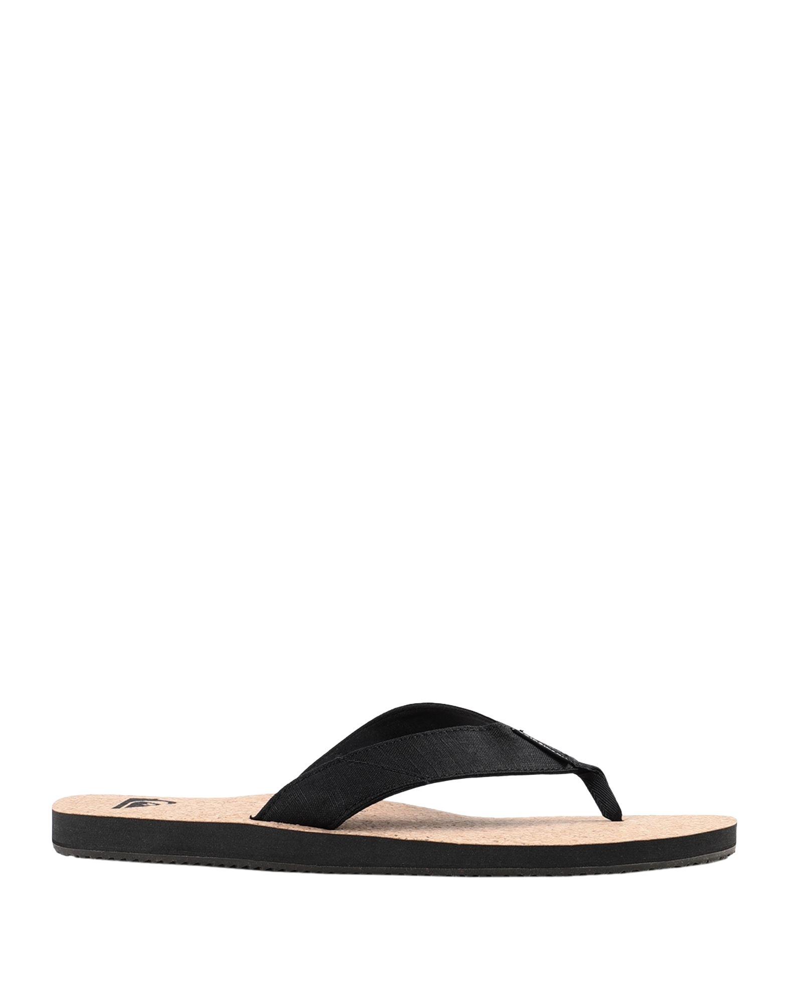 《セール開催中》QUIKSILVER メンズ トングサンダル ブラック 39 紡績繊維 / コルク素材 QS Sandals Molokai Abyss Natural