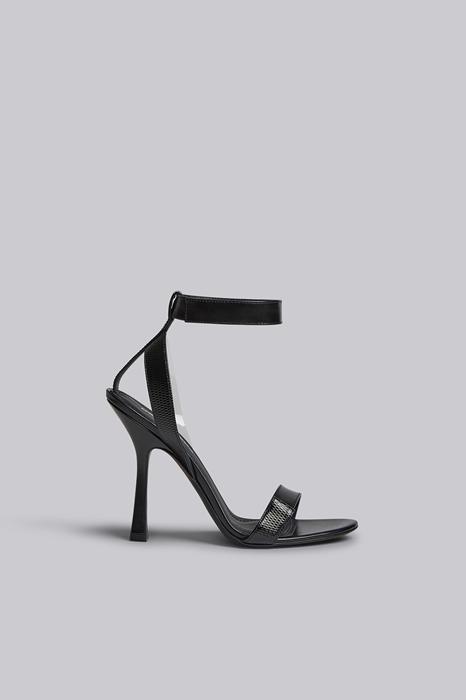 Dsquared2 Black Strip Heeled Sandals