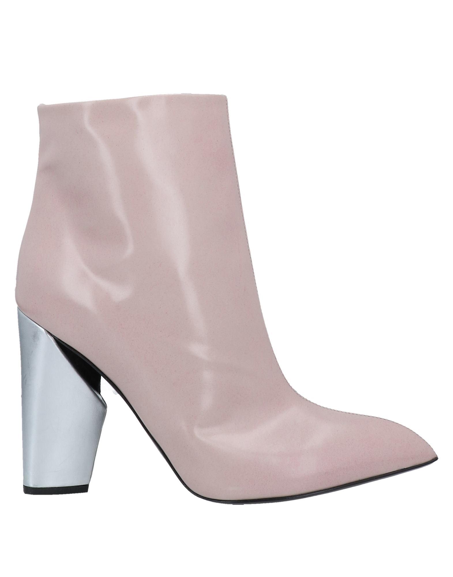 Alain Tondowski Ankle Boots In Light Pink