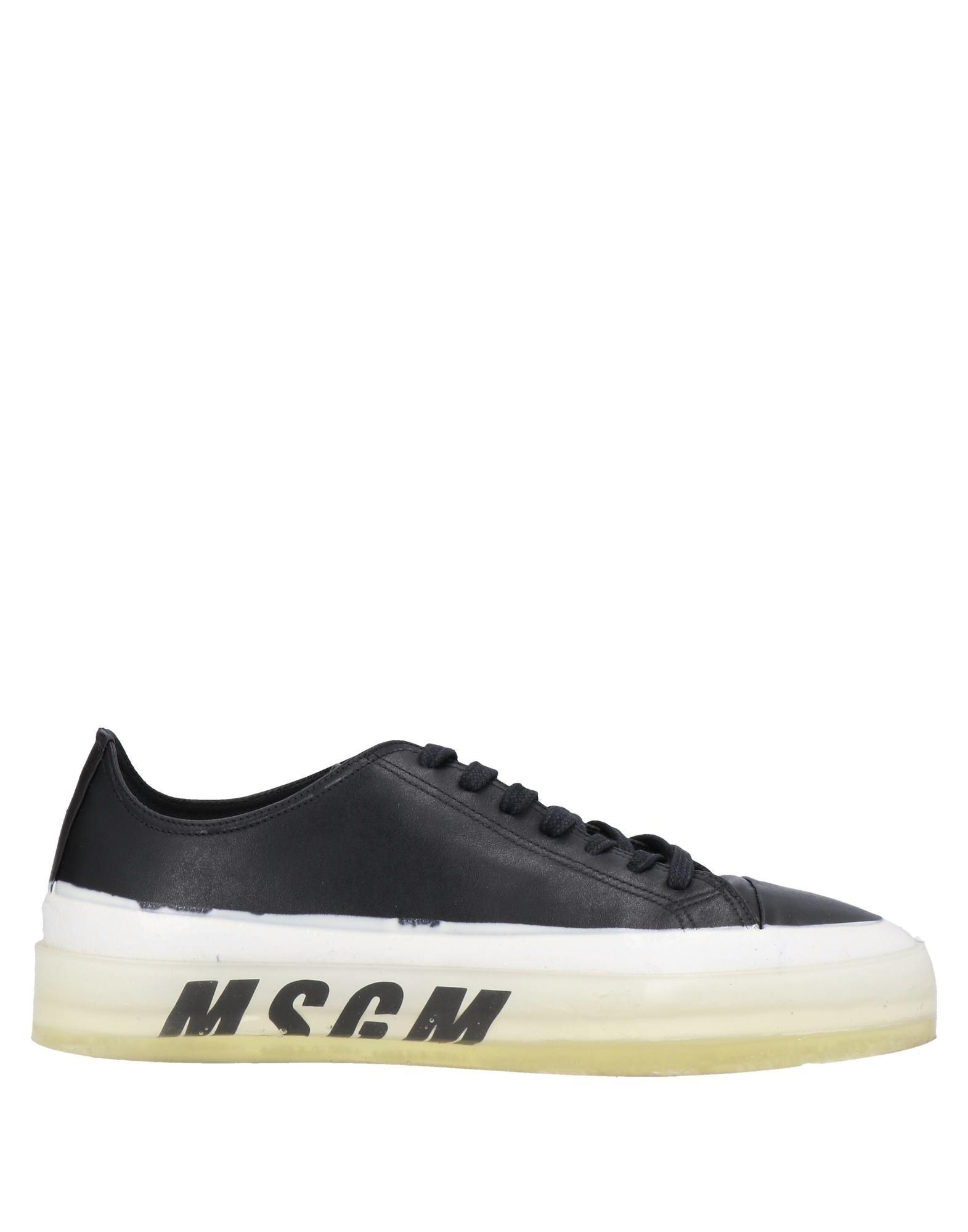 MSGM エムエスジーエム メンズ スニーカー ブラック
