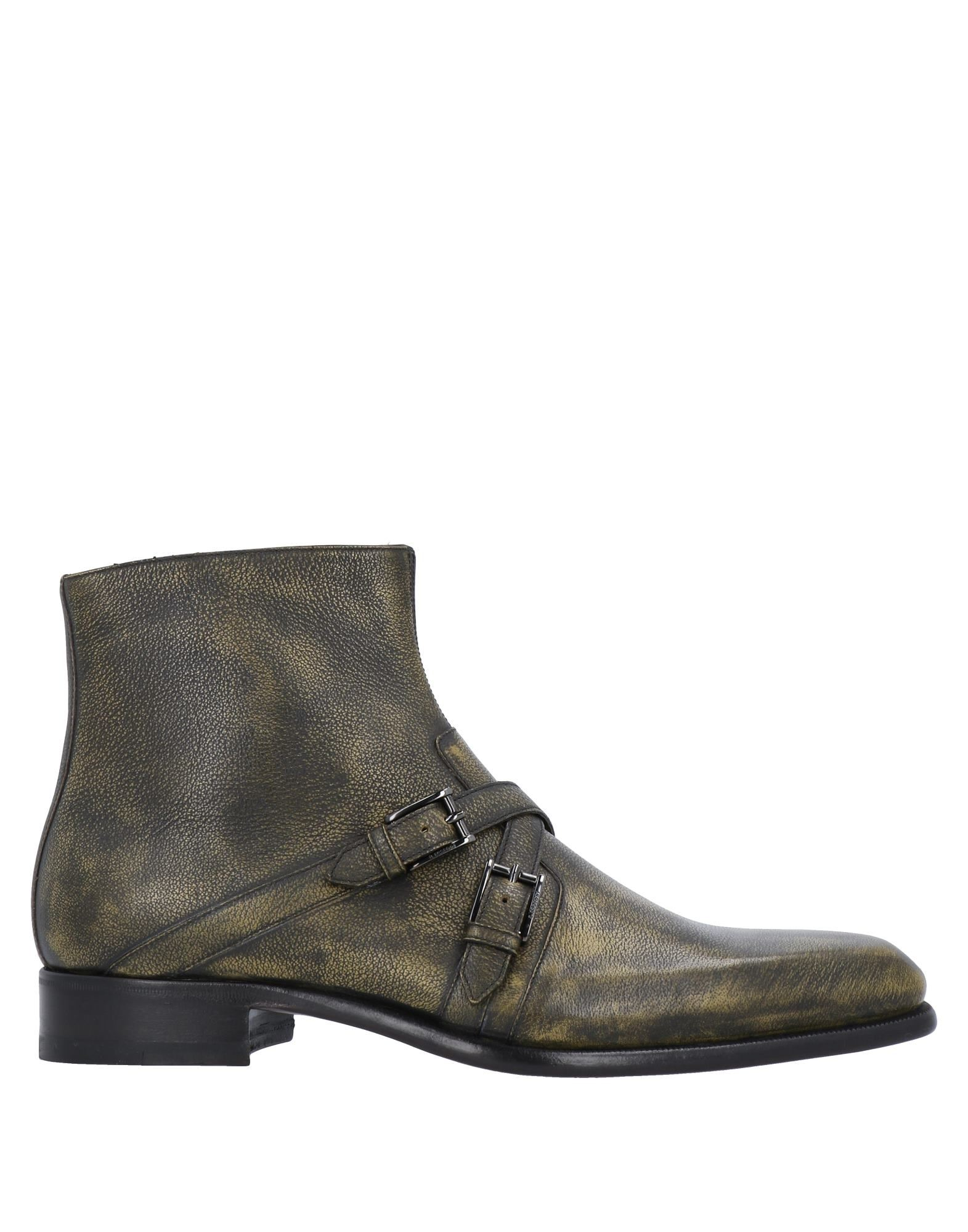 A.testoni Ankle Boots In Military Green