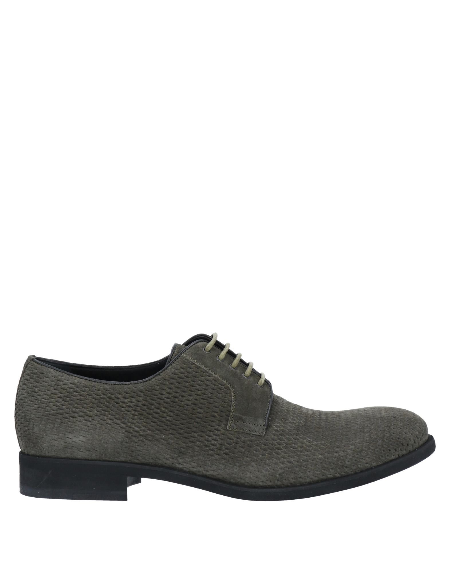 A.testoni Lace-up Shoes In Military Green