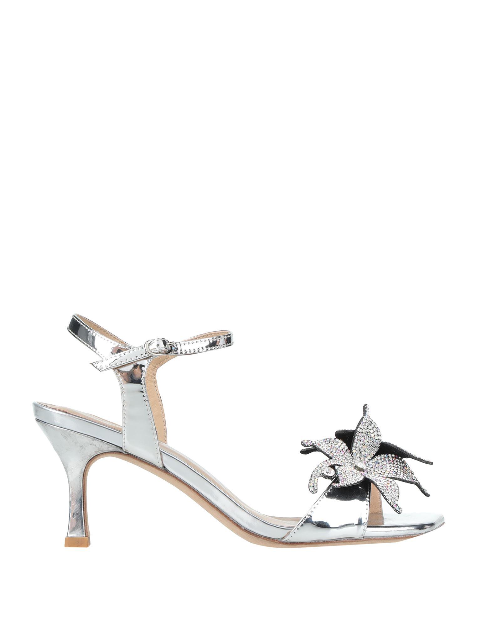 Gianmarco Lorenzi Sandals In Silver