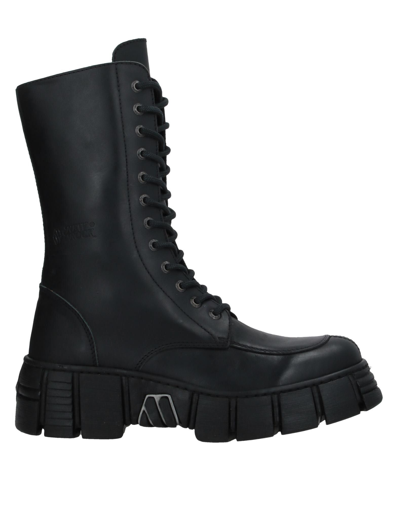 NEW ROCK メンズ ブーツ ブラック