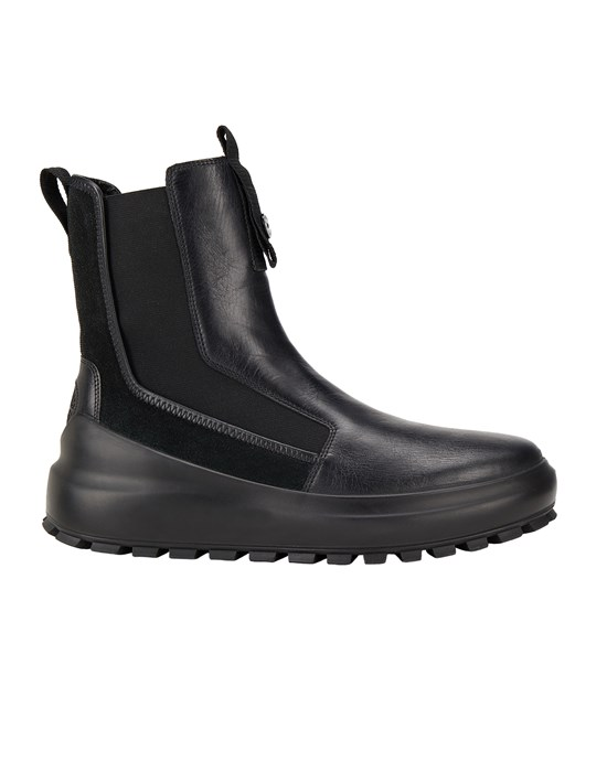 Schuh. Herr S0120 CHELSEA BOOT:PURE PREMIUM LEATHER AND SUEDE_CHAPTER 1 Front STONE ISLAND SHADOW PROJECT